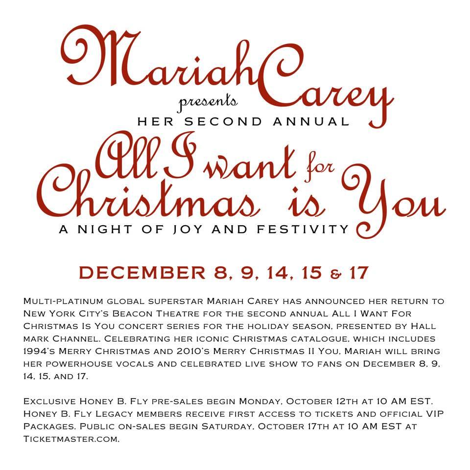 Mariah Carey au Beacon Theatre 2015 12088374_1007910545907760_358739470325983361_n